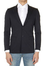 GIVENCHY Men Black Cotton Single Breasted Blazer Jacket Made in Italy Neu