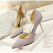 Slim High Heels Sexy Pumps Stilettos Pointed Toe Lady Bridal Cut Out Women Shoes