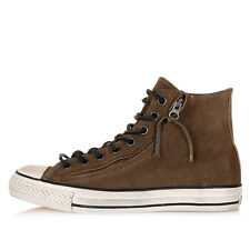 CONVERSE by JOHN VARVATOS Unisex Brown Leather High Sneakers Shoes New