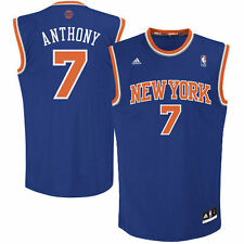 adidas Carmelo Anthony New York Knicks Royal Blue Replica Road Jersey