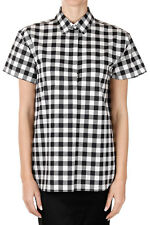 DOLCE & GABBANA Women Short Sleeved Checked Shirt Made in Italy New