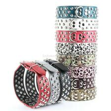 Pet Dog Cat Collar Rivet Strap Adjustable PU Studded Leather Spiked Buckle