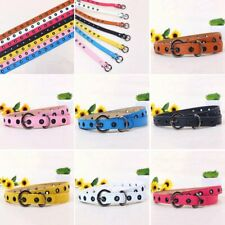 Toddler Baby Kids Boys Girls Adjustable PU Leather Belt Waistband Multi-colors