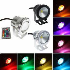 12V 10W RGB Warm Coo Waterproof Underwater LED Spot Light Flood Wash Lamp+Remote