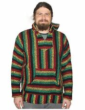 Mexican Baja Knit Pullover Hoodie Drug Rug Beach Wear - 12 Color Combos