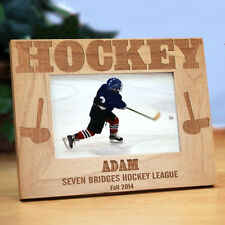 Personalized Hockey Lover Picture Frame Engraved Hockey  Photo Frame 3 sizes