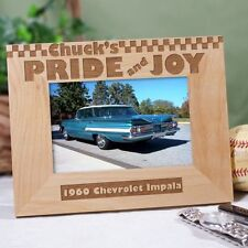Personalized Pride & Joy Picture Frame Engraved Hot Rod Car Lover Photo Frame