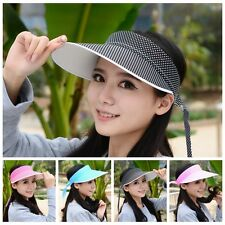 Hot Unisex Dot Visor Sun Plain Hat Sports Cap Golf Tennis Beach Hats Adjustable