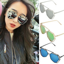 Metal Frame Mirrored Womens Retro Designer Sunglasses Shades Glasses Eyewear CHI