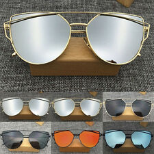 Women's Metal Frame Mirrored Sunglasses Designer Outdoor Glasses Eyewear CHI