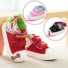 Korean Kids Girls Baby Toddler Casual Canvas Soft Slip On Fashion Shoes Bow