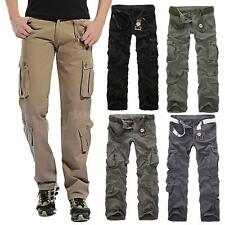 NEW Casual Military Army Mens Cargo Pants Baggy Tactical Long Trousers Work Z2L6