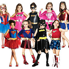 Girls Deluxe Child Superhero Wonder Woman Batgirl Supergirl Fancy Dress Costume