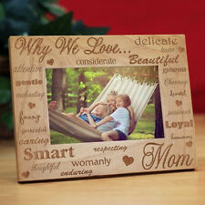 Personalized Why We Love Mom Picture Frame Mother's Day Engraved Photo Frame