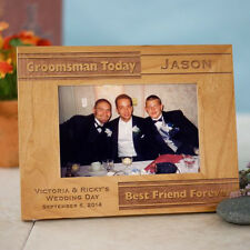 Personalized Groomsmen Picture Frame Groomsmen Gift  Photo Frame in 3 Sizes