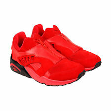 Puma Trinomic Zip Mens Red Suede Lace Up Sneakers Shoes