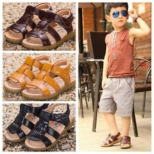 Hot Stylish Kid Baby Boy Girl Soft Leather Sandals Prewalker Casual Beach Shoes