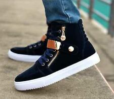 Fashion Mens High Sneakers Canvas Boots Hip Hop Leisure loafer Casual Shoes