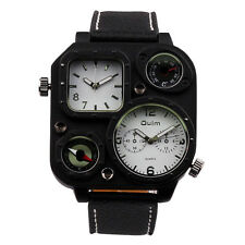 OULM Men's Luxury Army Military Dual Time Sport Analog Quartz Wrist Watch
