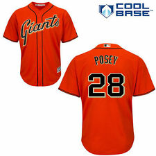 Majestic Buster Posey San Francisco Giants Orange Cool Base Player Jersey