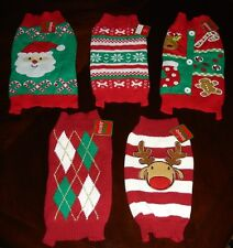 Christmas Holiday Pet Knit Dog Sweater (XS, S, M) - Choose From 5 Designs - NWT!
