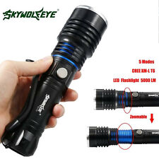 5000LM 5 Modes CREE XM-L T6 Zoomable LED High Power Flashlight 18650 Torch Lamp