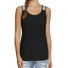 Women Scoop Neckline Sequin Embellished Tank Top
