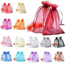 30/100pcs Organza Jewelry Packing Pouch Wedding Favor Gift Bags 10*12cm 7*9cm NG