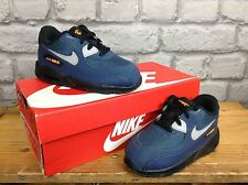 NIKE CHILDS BOYS UK 7.5 BLUE ORANGE AIR MAX 90 TRAINERS RRP £65