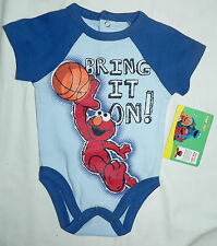 Licd. ELMO Boys One-Piece All-In-One -Sz 0-3mth,3-6mth,6-9mth -Imported from USA