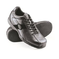 Womens Black Shoes for Crews Leather Catering Lace Up Work Trainers UK 5 LH55