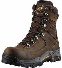 "MEN'S ARIAT 8"" LACE UP WORKHOG TREK H20 SAFETY TOE WORK BOOTS 10011972"