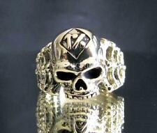 OUTLAW BRONZE BIKER RING RIPPER SKULL 1% ER BONES MOTORBIKE CLUB MC ANY SIZE