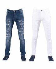 Seven Series Mens Skinny Jeans Zip Fly Ripped Stretch Distressed Denim Pants