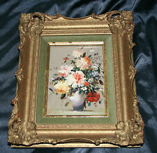 Antique/Vintage Floral Oil Painting On Board Signed ( Hungarian I Think )