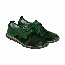 Cushe Shakra Womens Green Textile Lace Up Sneakers Shoes