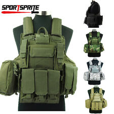 Molle Airsoft Tactical Strike Plate Carrier Combat  Armor Vest  Maga Pouch Bags