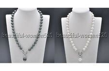 X0113 14mm SOUTH SEA SHELL PEARL NECKLACE PENDANT 18inch