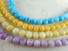 2 Strands 6mm Round MOP Pearl Shell Beads You Pick Color
