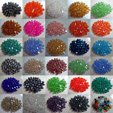 500/1000Pcs Faceted Bicone Crystal Glass Beads Spacer Jewelry Findings 4mm 6mm