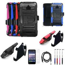 Phone Case For AT&T Alcatel Ideal GoPhone Holster Cover USB Charger Flim Stylus