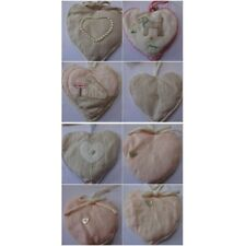 Retreat Home Lavender Filled Linen Hanging Heart  pearl heart detail