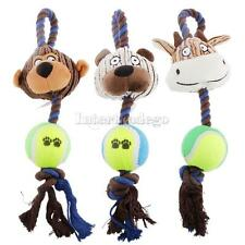 Soft Plush Knot Cotton Rope Pet Dog Puppy Chew Exercise Play Fun Toy AS YOU PICK