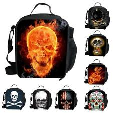 Insulated Picnic Thermal Portable Lunch Carry Tote Storage Bag Case Skull Print