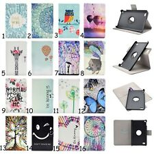 1X 360 Rotating Stand Leather Flip Case Cover For Amazon Kindle Fire 7/Fire HD 8
