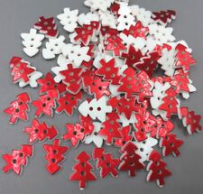 Red Christmas tree shape Resin Buttons Sewing craft scrapbooking 17mm