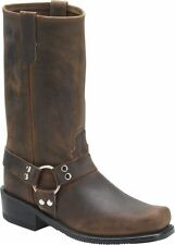 MEN'S DOUBLE H BROWN HARNESS MOTORCYLE BOOTS 4004