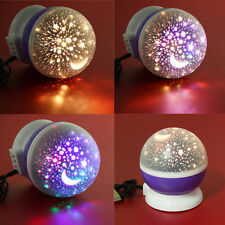 LED Starry Sky Projector Night Light Star Moon Romantic Lamp Cosmos Kids Gifts