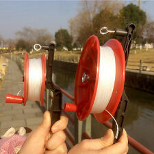 20M/100M Kites Red Fire Wheel Kite Reel Winder Handle Tool Twisted String Line