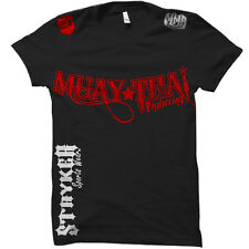 Stryker Fight Gear Muay Thai Fighting T-Shirt UFC Boxing MMA FREE Tapout Sticker